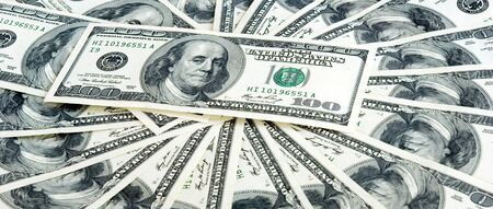 hundreds: Money background from hundreds dollars Stock Photo