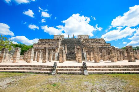 kukulkan: Kukulkan Pyramid in Chichen Itza Site, Mexico
