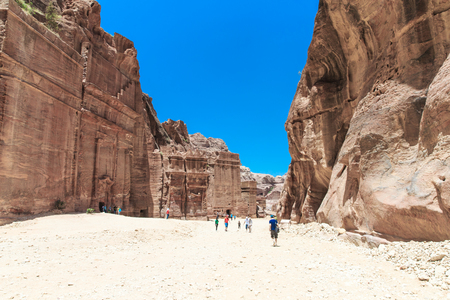 The abandoned city of Petra in Jordan