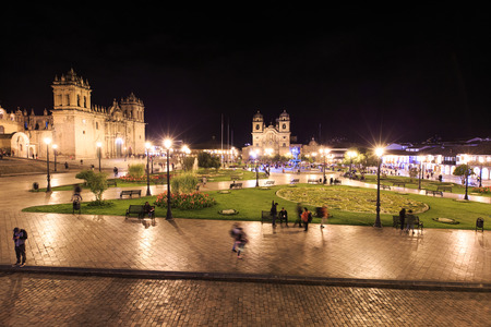 colonial church: CUSCO PERU-NOV. 9: Cathedral of Santo Domingo on Nov. 9 2015 in Cusco Peru Building was completed in 1654, almost a hundred years after construction began. Editorial