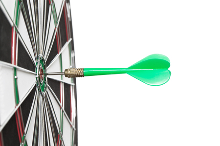 entertainment center: darts arrows in the target center Stock Photo