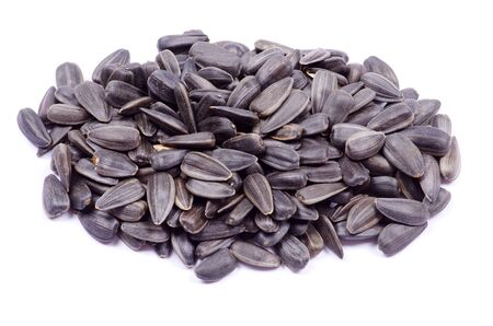 sunflower seeds isolated on white Stock Photo