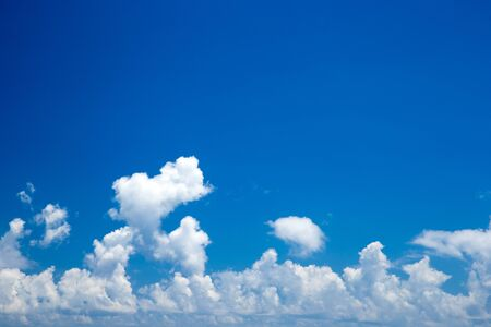 cloudscapes: Blue sky with white clouds Stock Photo