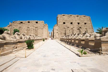 아프리카, 이집트, 룩소르, 카르 나크 사원