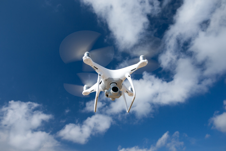 drone flying over sea. Stok Fotoğraf