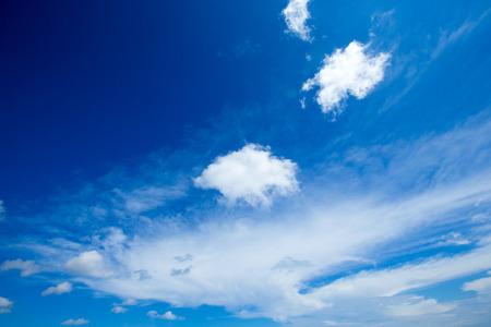 sun energy: blue sky with cloud