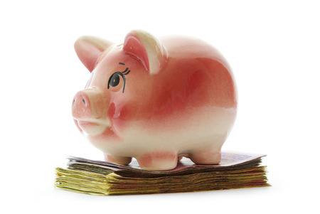 stock of money isolated on white background Stock Photo
