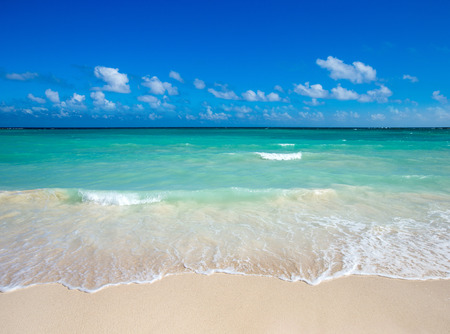 tropical beach in Maldives Stock Photo