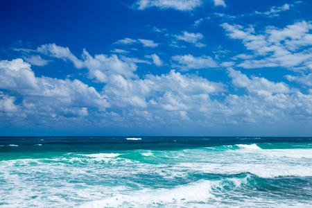beautiful beach and tropical sea Stock Photo