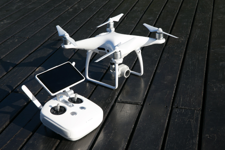 drone quad copter with high resolution digital camera and its remote control pad