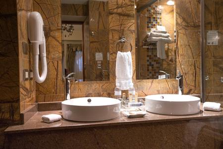 Modern private bathroom interior Editorial