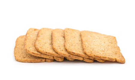 Tasty cookies biscuits on the isolated background Stock Photo