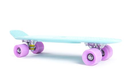 plastic skateboard isolated on white background Stock Photo