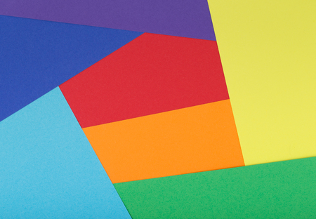 Multicolor background from a cardboard of different colors