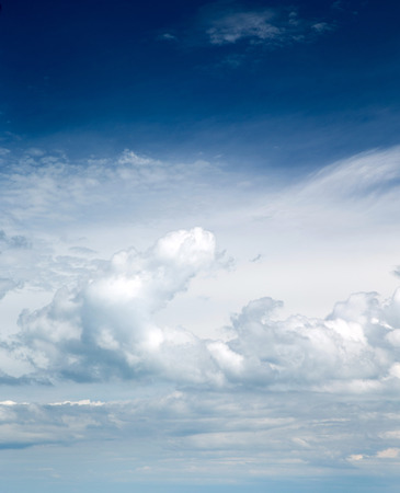 blue sky background with white clouds Stock Photo - 106354240