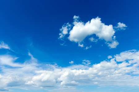 Blue sky with white clouds. Stock Photo