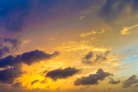 sunset and sunrise sky. orange sunset sky. Beautiful sky. Stock Photo