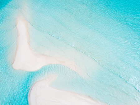 Amazing bird eyes view in Maldives Stock Photo