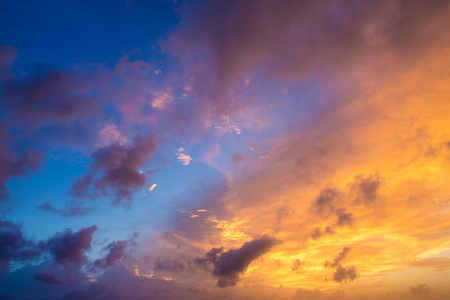 sunset and sunrise sky. orange sunset sky. Beautiful sky. Stock Photo