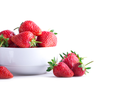 Strawberry isolated on white background. Clipping Path Stock Photo