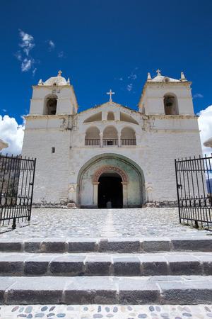 San Pedro de Alcantara Church in Cabanaconde, Peru