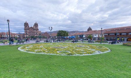 CUSCO PERU-NOV. 9: Cathedral of Santo Domingo on Nov. 9 2015 in Cusco Peru Building was completed in 1654, almost a hundred years after construction began. Editorial