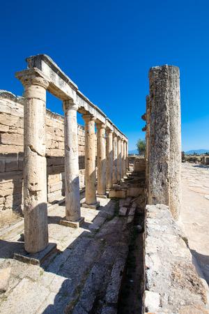 Hierapolis ancient city ruins, North Roman Gate, Pamukkale, Denizli Turkey