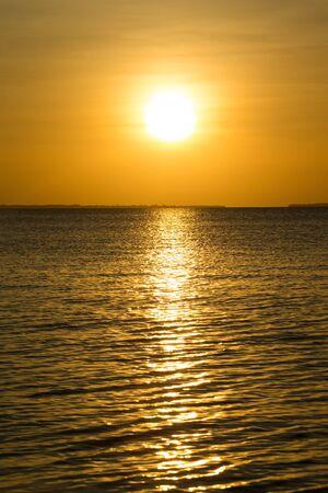 Sunset on sea in Zanzibar 스톡 콘텐츠