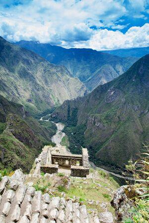 Machu Picchu view background.