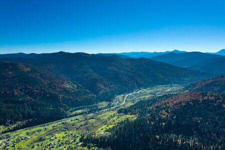 Carpathian mountain sunny landscape Stok Fotoğraf - 132614407