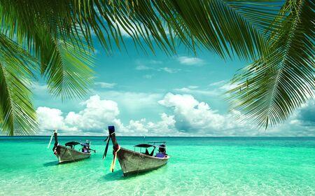 beautiful beach and tropical sea Stok Fotoğraf
