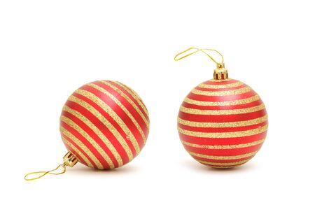 christmas ball isolated on a white background Фото со стока
