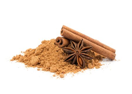 anise and cinnamon ingredients close up