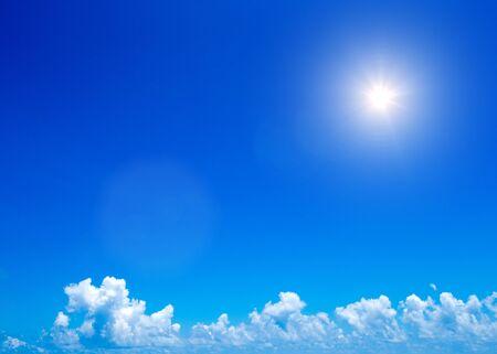 Blue sky with white clouds Фото со стока