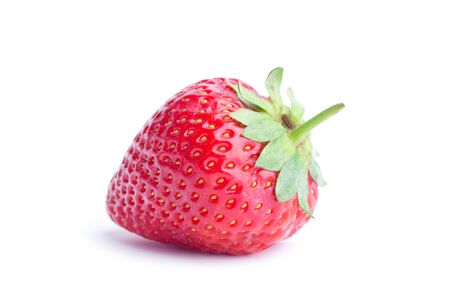 Strawberry isolated on white background. Clipping Path Фото со стока
