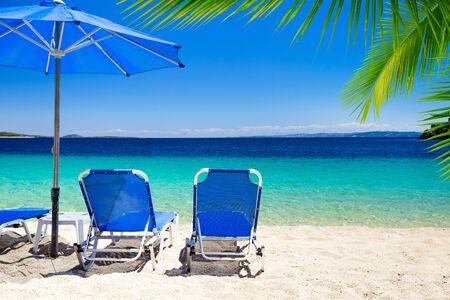 beautiful beach and blue sea