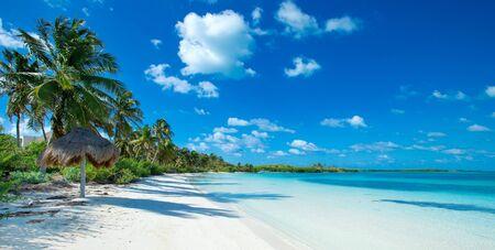 schöner Strand und tropisches Meer Standard-Bild