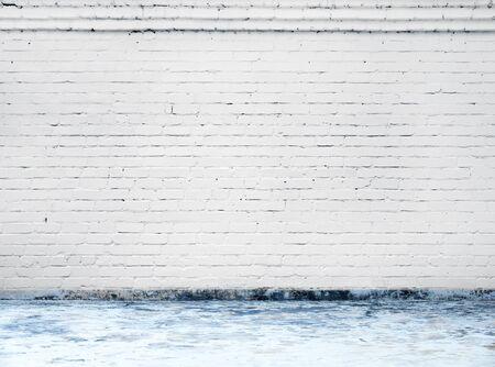 sfondo di muro di mattoni bianchi in camera rurale