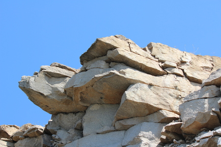 Granite rock against the sky