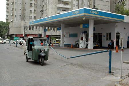 PAKISTAN_KARACHI_Gas station on strike due to government raise new tax on gasoline  6 June 2012   Stock Photo - 14140599