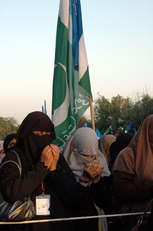 blasphemy: KARACHIPAKISTAN_ Pakistanis in thousands staged protes rally by Jamaat-e-Islami female and males showed anger toward anti Prophet film and prayed, People  show anger toard film maker and USA ,today on 3 October 2012           Editorial