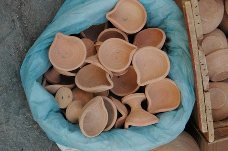 eldlery: KARACHIPAKISTAN_  Pakisani eldlery male selling  Pottery mug made clay 31 Oct 2012       Editorial