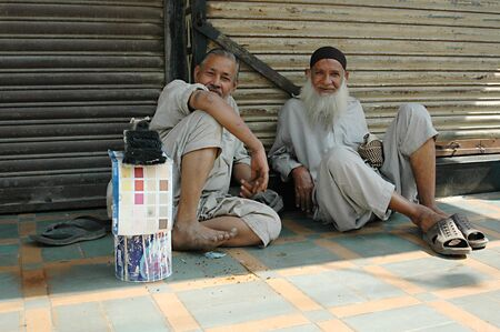 jobless: KARACHIPAKISTAN_ Pakistani jobless males waiting for empolyers come and give them daily job  since Pakistani people do not much seek job thorugh job center 3 Nov. 2012       Editorial