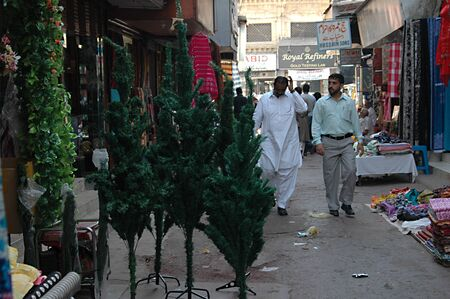 karachi: KARACHIPAKISTAN_   Christmas trees on sale in Karachi bazar 26 Nov. 2012       Editorial