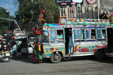 trafic: KARACHIPAKISTAN_    Trafic jam on M.A.Jinnha road Karachi as 13 millions populations largest city of Pakistan 4 February 2013