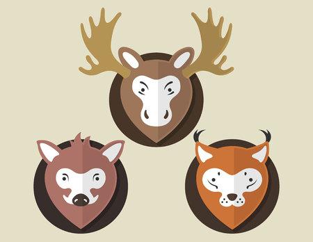 lynx: Flat Animal Elk Boar Lynx