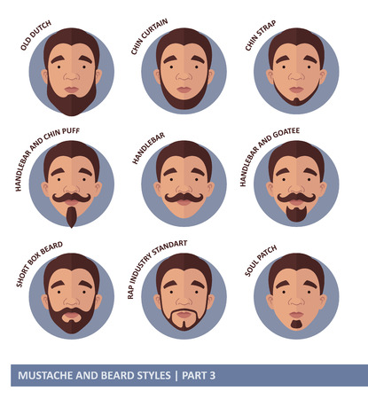 whisker characters: Mustache And Beard Styles