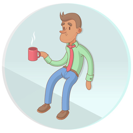 Office Worker Drinking Coffee On Break