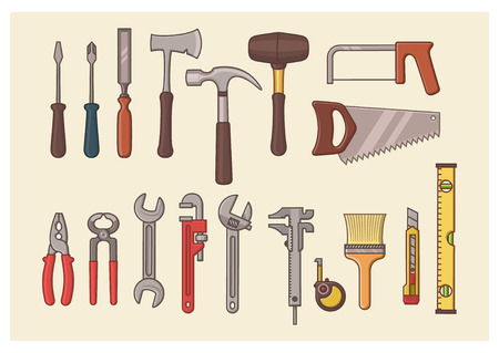 Tools Set. Vector Illustration.