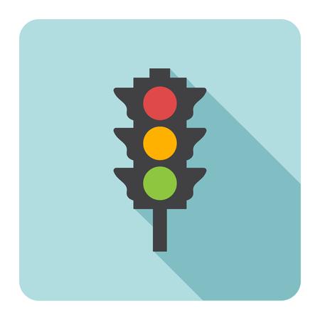 Traffic light icon. Vector illustration. Stock Vector - 46311238
